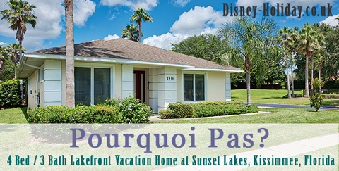 Pourquoi Pas, 4 bed / 3 bath lakefront vacation home, Sunset Lakes, Kissimmee, Florida